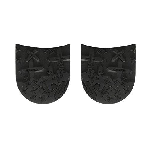 MagiDeal Colla su Tacco In Gomma Antiscivolo Calzoleria Nero per Scarpa Uomo Manutenzione - #2, 7mm
