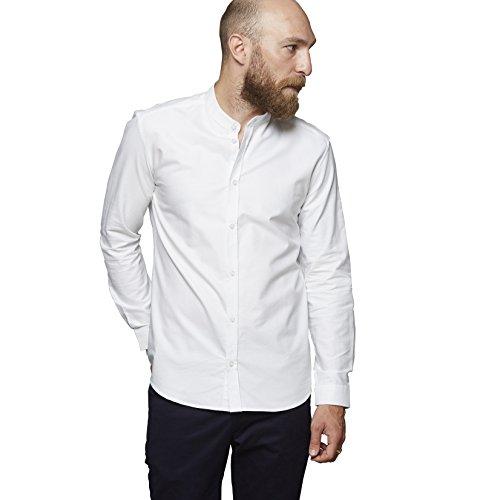 SUIT Herren Freizeithemd Noos Oxford-Mandarin-Q4190, Weiß (White 2000), 40 (Herstellergröße: S) (Oxford Button Weißes)