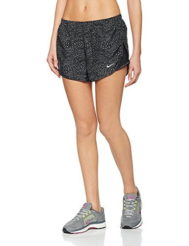 Shorts Tempo Nike Print (Nike Women's Dri-Fit Allover Print Tempo Running Shorts-Black-Small)