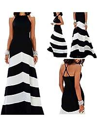Ovender® Vestiti Eleganti Lunghi da Donna Ragazza Abito Vestito Donne  Ragazze Impero Formale Elegante Lungo 070ac25b1f3