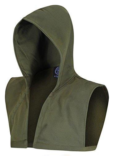Green Cosplay Kostüm Arrow - Grüner Kapuzenschal Gr. M, grün