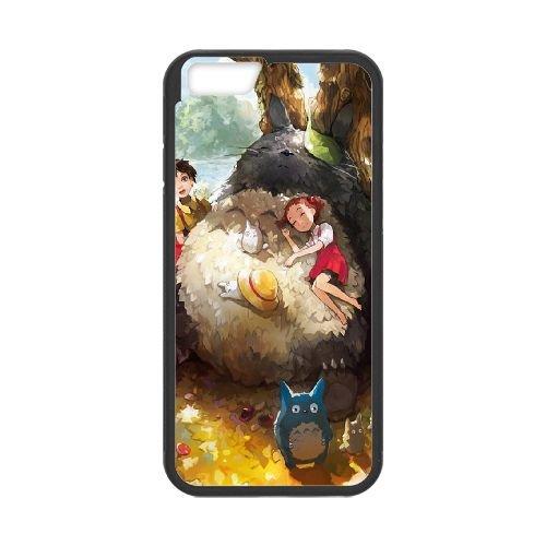 My Neighbor Totoro 003 coque iPhone 6 Plus 5.5 Inch Housse téléphone Noir de couverture de cas coque EOKXLKNBC22966