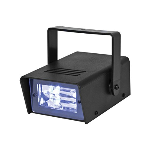 Global Gizmos LED Batteriebetrieben Mini Stroboskop, Kunststoff, schwarz,