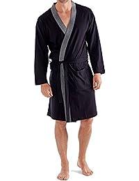 Mens Dressing Gown Lighweight Cotton Rich Jersey Summer