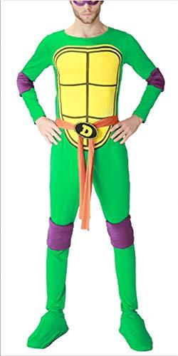 Mitef Herren Teenage Mutant Ninja Turtle Kostüm und Zubehör Cosplay - Violett - - Für Erwachsene Michelangelo Jumpsuit Kostüm