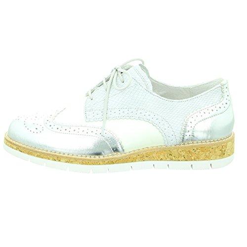 Gabor  62.558.90, Chaussures de ville à lacets pour femme Off-Withe