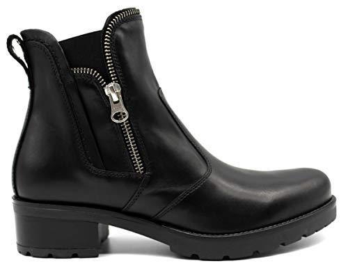 Nero giardini donna tronchetto a807050d nero scarpe in pelle. autunno inverno 2019 eu 37