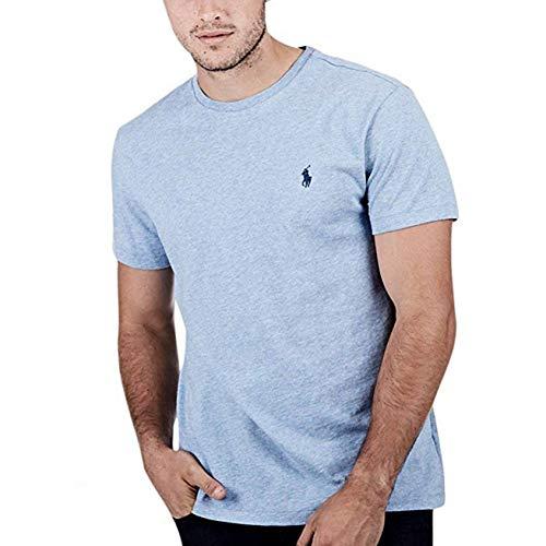 Polo Ralph Lauren Herren T-Shirt Pony Logo Rundhals - Blau - Klein