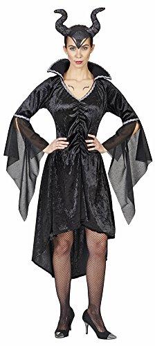 Kostüm Königin Zauberin Böse - Böse Königin Kostüm für Damen - Schwarz - Gr. 40 42