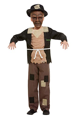 Smiffys 50929L Offiziell lizenziertes Gänseblümchen-Kostüm, Vogelscheuche für Jungen, Braun/Schwarz, L - Alter 10-12 - Jungen Kostüm Vogelscheuche