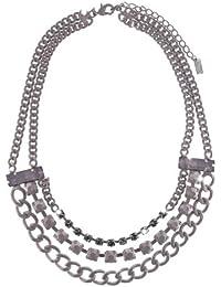 Sweet Deluxe Damen Halskette Messing Acryl  violett 034