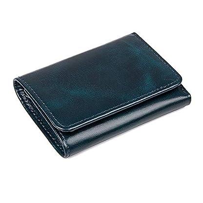 41IGjyNz9QL. SS416  - TIDING Paquete de tarjeta de billetera corta retro monedero monedero unisex de negocios informal