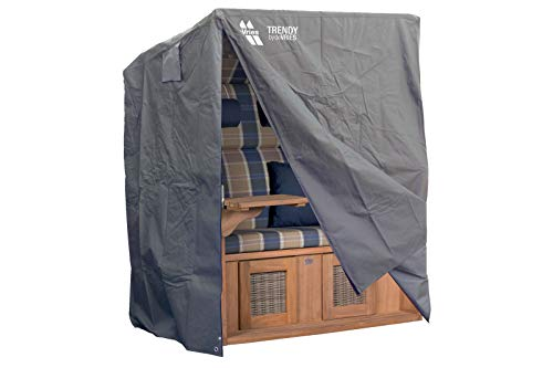 DE Vries Classic XL Schutzhülle, dunkelgrau, Polyestergewebe, 135 x 95 x 165 cm, 2 Reißverschlüsse
