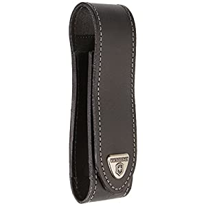 41IGkpPZW0L. SS300  - Victorinox 4.0506.L V4.0506.L Leather-Belt Pouch Ranger Grip, Black, Big