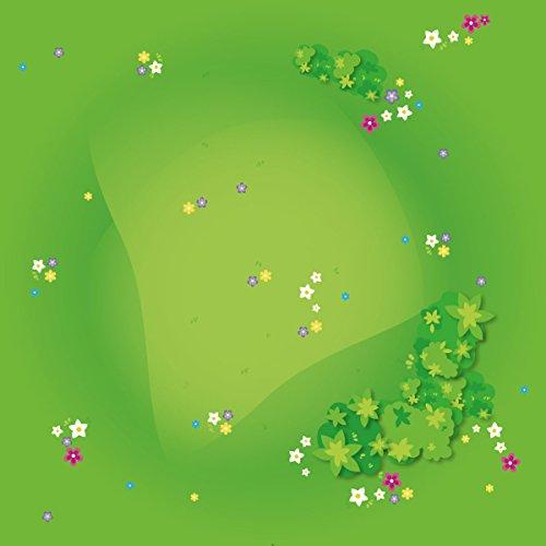 playmatt Spielmatte - Graslandschaft mit Blumen | rutschfest | 100{d82bd66b477b9ab512690fea6b66217145ab7448cd55a12a19e5797f8cb3f0f4} schadstofffrei | waschbar