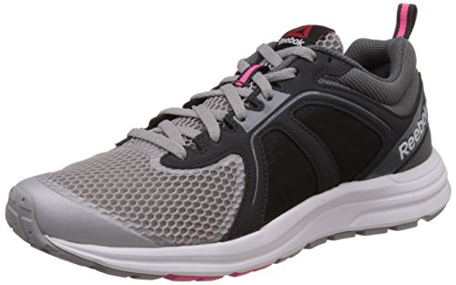 Reebok Women's Zone Cushrun 2.0 Grey, Black and Pink Running Shoes – 5 UK 41IGlJKEqdL