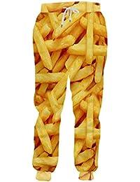 Jogger Hosen Männer Mode Lose Lebensmittel 3D Sweat Hosen Drucken Pommes Frites Chips Streetwear Kostüm Mann Jogginghose