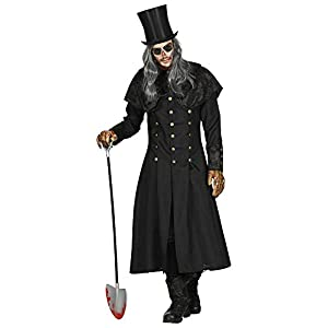 WIDMANN 01593 Disfraz de bruja, para hombre, negro, M/L