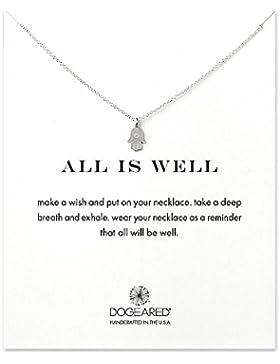 """Dogeared Anhänger Hand der Fatima """"Alles ist gut"""" mit Halskette aus Sterlingsilber, 45,72cm"""