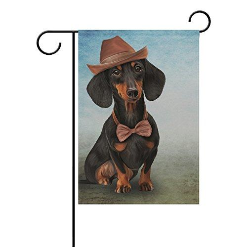 Doppelseitig Mr. Dackel Funny Hund Polyester HAUS/Garten Flagge Banner 12x 18/71,1x 101,6cm...