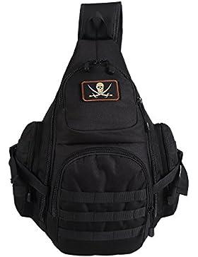 Lalawow Sling Bag taktisch Rucksack Daypack Fahrradrucksack Umhängetasche Schultertasche Crossbody Bag