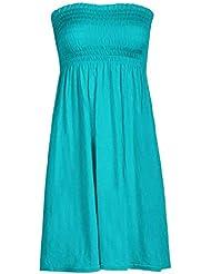 Mix lot neue Frauen-Scher boobtube Bandeau-trägerlose / ärmelloses Top Klar Damen sexy Sommer-Strand-Kleid oben klein mittel plus size Freizeitkleidung Größe 36-50