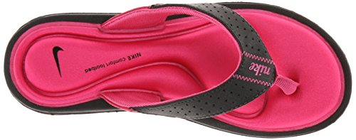 Nouveau Nike Comfort Thong Rose / Ladies bleu 5 Black/Vivid Pink/White