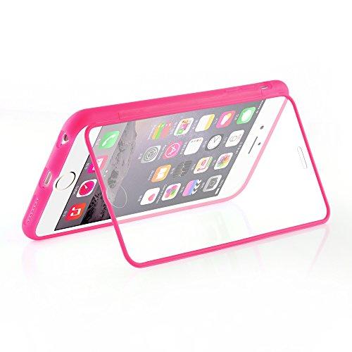Cadorabo - TPU Silikon Schutz-Hülle (Full Body Rund-um-Schutz auch für das Display) für >             Apple iPhone 6 / 6S             < - (4.7) in ALKALI-BLAU HOT-PINK