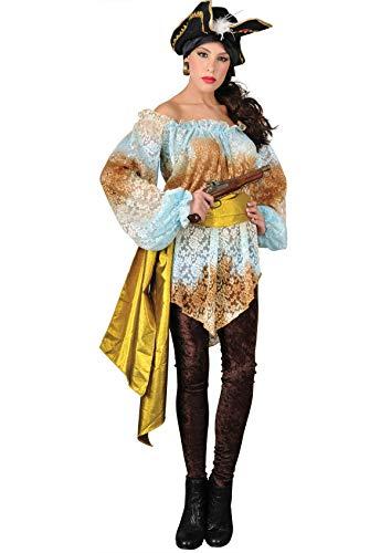 Fluch Elizabeth Aus Kostüm Der Karibik - Unbekannt Stamco, Piratenkapitän ELSA, Piratenkostüm für Damen