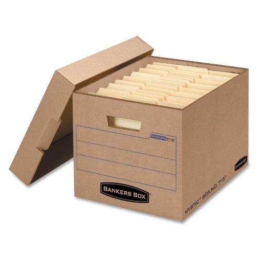 * deposito scatola portaoggetti con coperchio, lettera/Legal, in carta Kraft, confezione 25/by Bankers Box