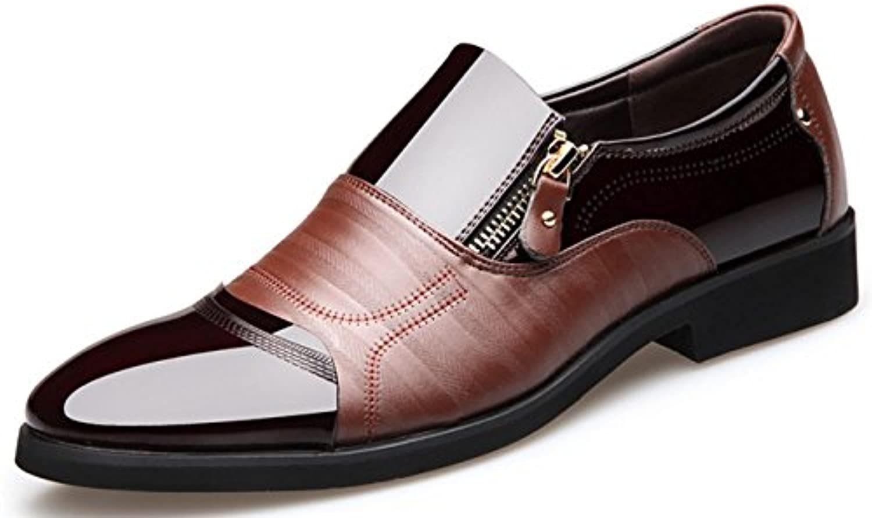 cygg costume noir chaussures confortables souliers new zip de fermeture les chaussures des robes de zip soirée et oxford.. . 1abd9b