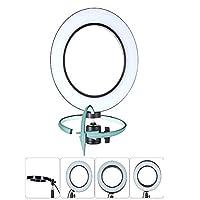 BIXINYAAN Ring Light for Live Stream/Makeup Dimmable LED Ring Light for Live Streaming Mini LED Camera Light