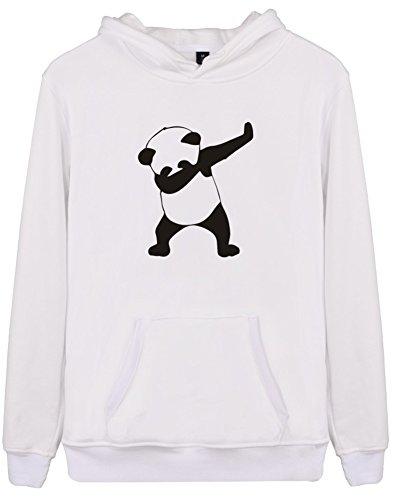 Eudolah Femme Pull sweat-shirt à capuche autonome animaux imprimés manches longues C-Blanc-BPanda