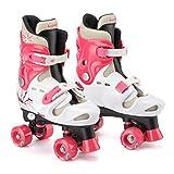 Osprey Kid\'s Quad Skates Adjustable Roller Skates, Pink, Size 13-3