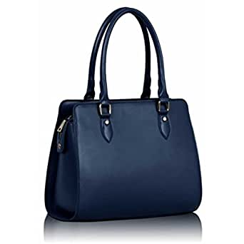 Marineblau Damen Designer Handtasche Dual behandelt weichem Leder Style Bag