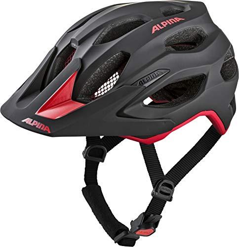 Alpina Unisex- Erwachsene CARAPAX 2.0 Fahrradhelm, black-red, 52-57 cm