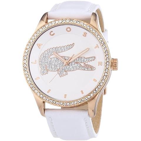 Lacoste  2000821 - Reloj de cuarzo para mujer, con correa de cuero, color blanco