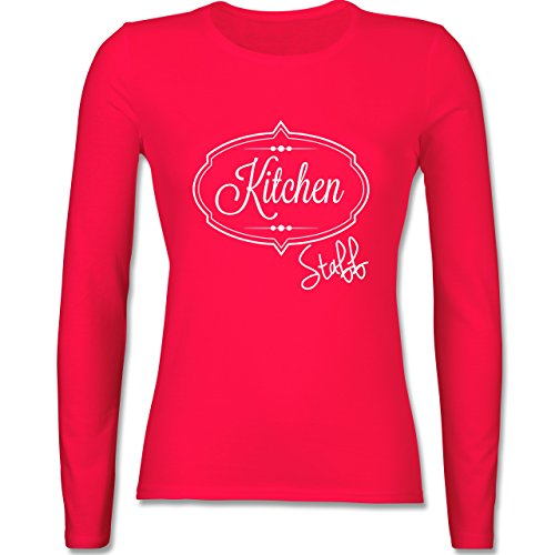 Küche - Kitchen Staff Küchenhelfer - tailliertes Longsleeve / langärmeliges T-Shirt für Damen Rot