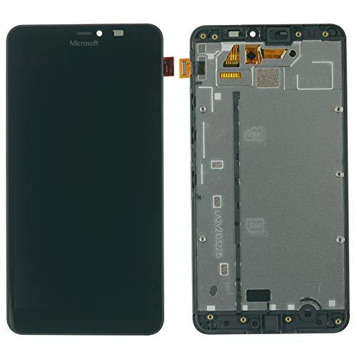 NG-Mobile Original Nokia Lumia 640 XL Displaymodul Touchscreen LCD Display + Rahmen Cover Gehäuse, schwarz -