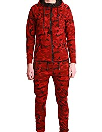 Ensemble Survêtement Jogging Tech Cabaneli Camo Rouge Metric