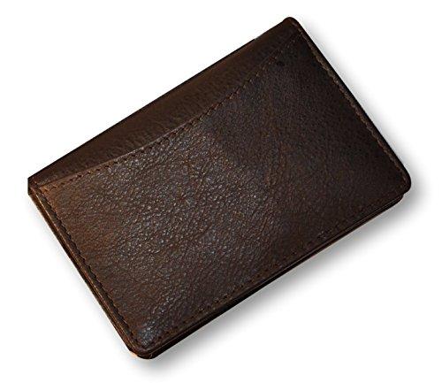 Kalb Box (Budd Leder COMPANY Kalb Slim Seitenfalte Business Card Case, braun (120463-2))