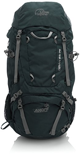 """Lowe Alpine Diran 65:75 - Mochila de senderismo para hombre, sistema de carga """"Axiom 3"""", capacidad 65 - 75 L - Color verde cocodrilo / arena, talla única"""