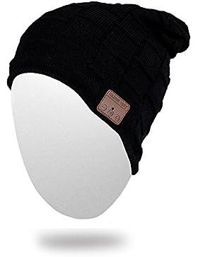Beanie cappello cappello berretto maglia cappello di musica cuffie Wireless Bluetooth con altoparlante stereo...