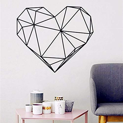 Promotion Distinctive Heart-shaped Design Wandaufkleber Geometrie Vinyl Decals Personalisierte Wohnkultur 58 x 50 cm