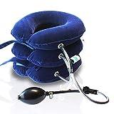 Chisoft Minerve de tractionrecommandée par les médecins, avec pompe manuelle et bandes Velcro pour un soulagement rapide de la douleur au cou