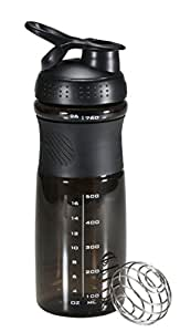 iShake Kool Sprint Plastic Shaker Bottle, 700ml (Black)