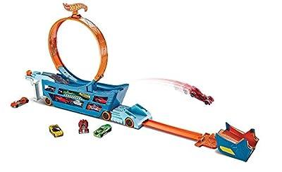 Hot Wheels Mattel DWN56 - Stunt N Go Transporter und Trackset von Mattel