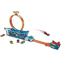 Hot Wheels-DWN56 Camión Superacrobacias, (Mattel DWN56)