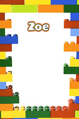 Zoe: Building Brick Blank Comic Book Notebook Journal book 120 pages 6