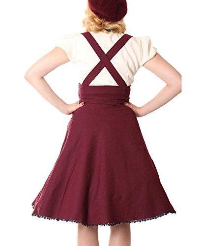 SugarShock Valentina 50s retro Hosenträger Suspender Swing Rockabilly Teller Petticoat Rock Burgund